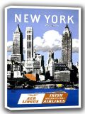 New York Vintage Travel Canvas. Sizes: A4/A3/A2/A1 (002693)